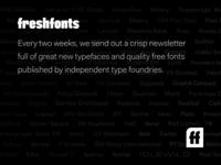 Fresh Fonts - Bi-monthly newsletter about great new typefaces