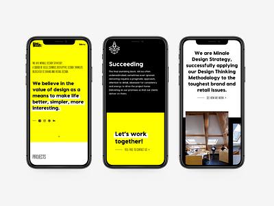 Part 3 •New website for Minale Design Strategy datocms development art direction black white yellow agency brand redesign webdesign web design new website