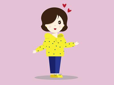 girl iilustration design illustration