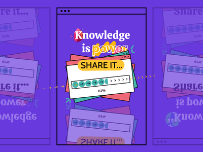 """""""Knowledge is power. Share it."""" by me. typography illustration 3d animation graphic design logo branding motion graphics application ui simple daily app design app design"""