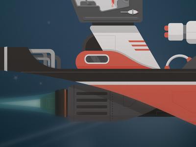 Spaceship 2 close up