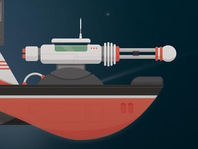 Spaceship 2 closeup