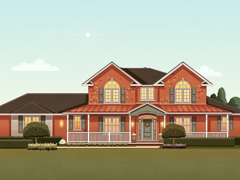Cozy Home illustrator illustration vector home warm building photoshop adobeillustrator