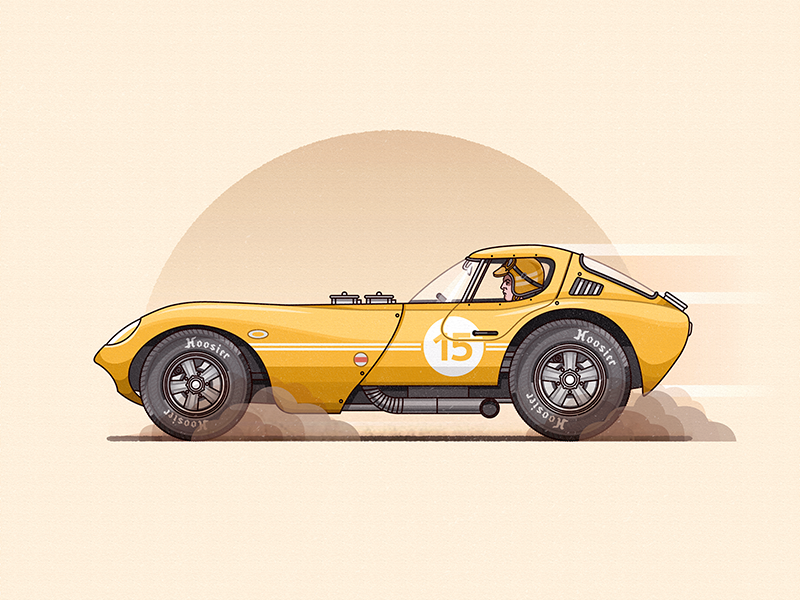 Vroom Vroom Goes The Cheetah  vector illustration car racecar flat adobeillustrator photoshop