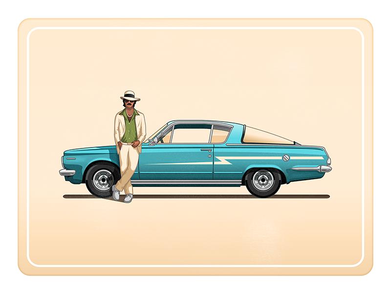 Just Chillin' pimpin car blue illustrator illustration vector