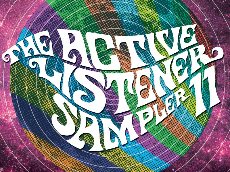 Active Listener cover typography photo collage psychedelic album cover