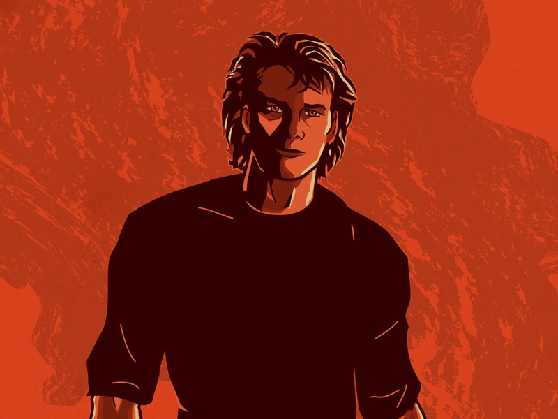 Road House movie poster illustration movie poster road house patrick swayze