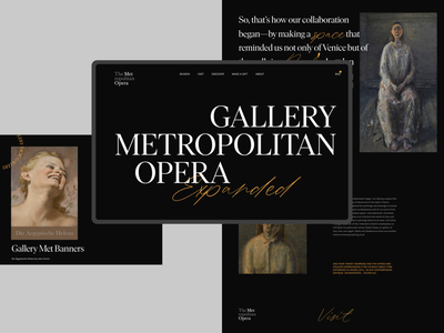 The Metropolitan Opera gallery theatre opera typogaphy art concept website webdesign web design ux ui