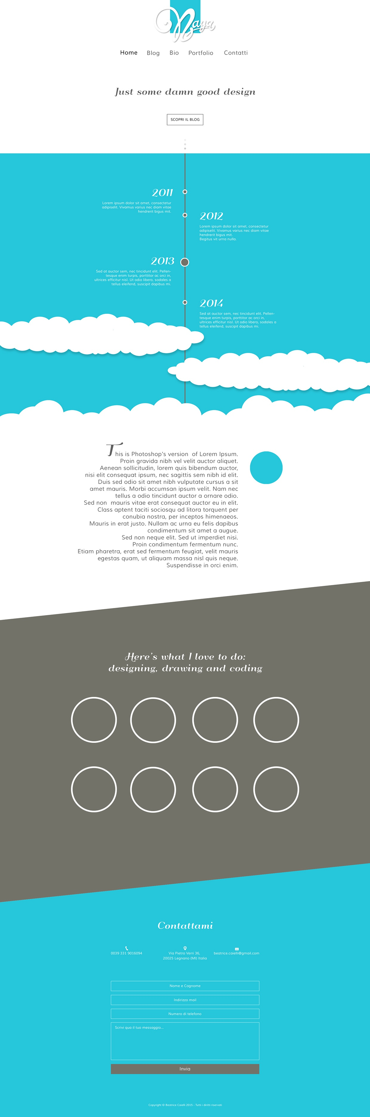Personal website layout