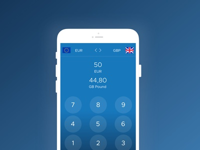 Daily ui challenge 004 - Currency converter