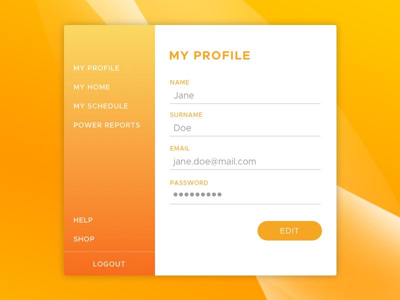 Account popup
