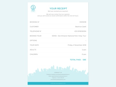 Daily ui challenge 017 - Email receipt