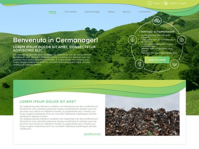 Desktop interface for a waste disposal platform