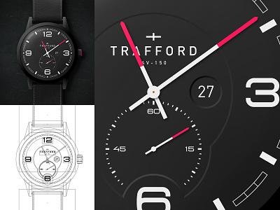 Aviator Watch wrist watch aviator aviation dial black and red black watch design watch