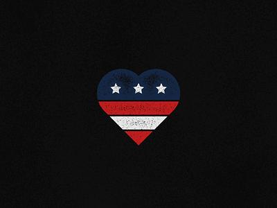 Vets Day america flag heart day