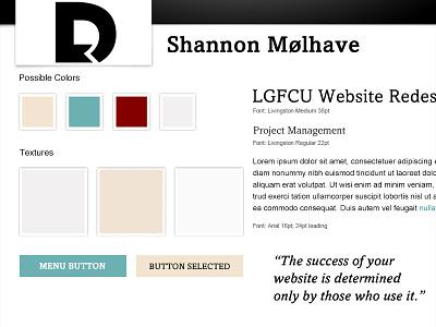 Portfolio Site Style Tile web design portfolio style tile