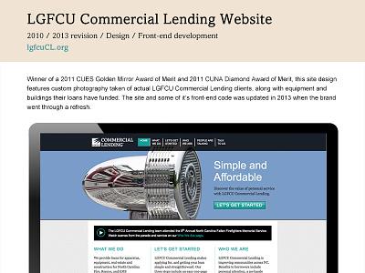 Project Page Layout web design portfolio style tile