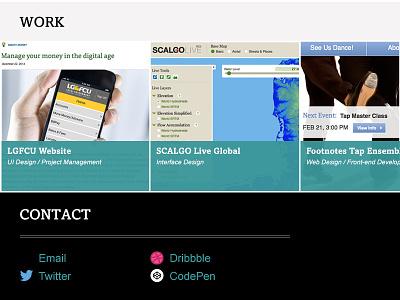 Portfolio Homepage web design portfolio