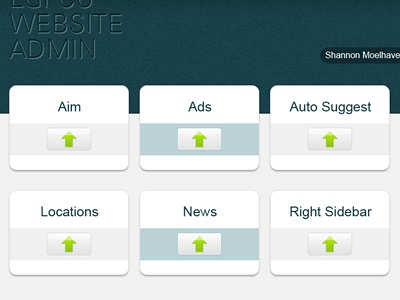 Website Admin Homepage interface designe web design intranet