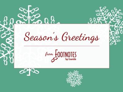 Footnotes Holiday Card print design graphic design holiday card