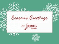 Footnotes Holiday Card