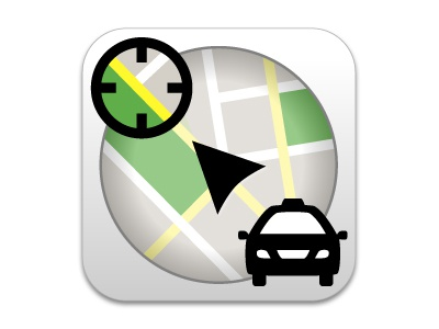 Taxi app icon revised app icon application mobile
