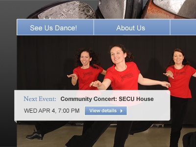 Redesigned FTE Homepage web design dance