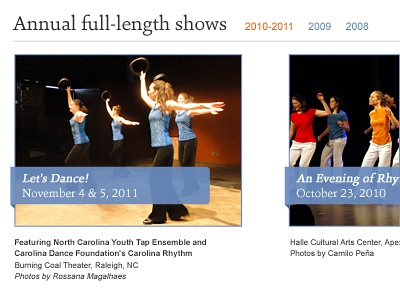 FTE Photo Gallery web design dance