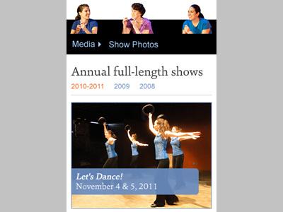 FTE Photo Gallery: Mobile web design dance mobile