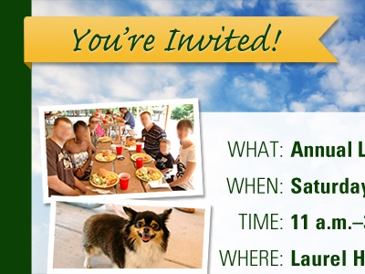 Company Picnic Email Invitation email email design
