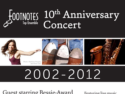 10th Anniversary Concert Poster dance poster graphic design tap dance