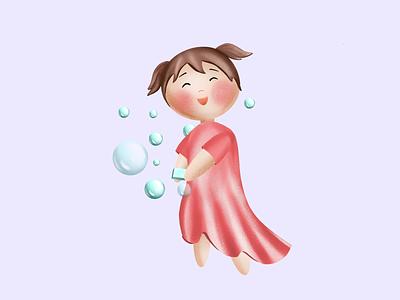 Wash hands procreate language kids illustration kids book kid education illustration design