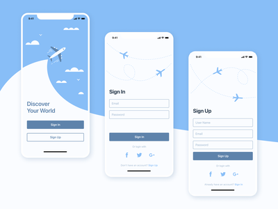 Sign in | Sign up travel travel app ios login sign in sign up mobile design mobile app ui