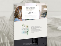 Foundry Salon website