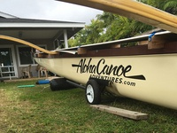 Aloha Canoe Adventures canoe sticker