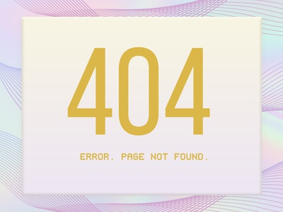 Design a 404 Page
