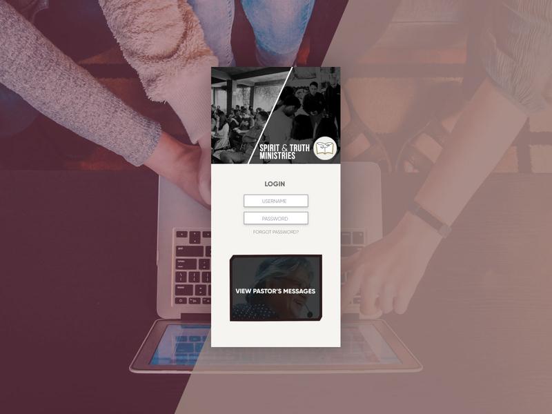 Redesign the Login Screen of a Favorite Site or App dribbbleweeklywarmup login app ux ui philippines stem stem church typography art artwork church graphic design design
