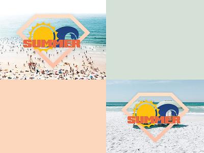Design an Icon or Badge Celebrating Summertime dribbbleweeklywarmup summertime summer icon badge typography art graphic design design