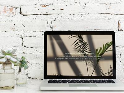 DRESS UP YOUR TECH! | Romans 1:16 desktop wallpaper wallpaper desktop typography art artwork church graphic design design