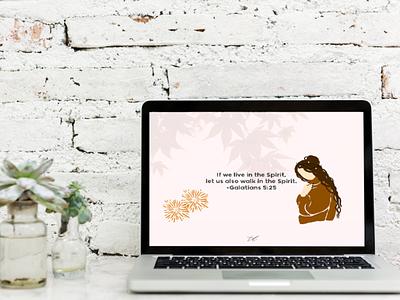 DRESS UP YOUR TECH! | Galatians 5:25 desktop wallpaper wallpaper vector illustration typography art artwork church graphic design design