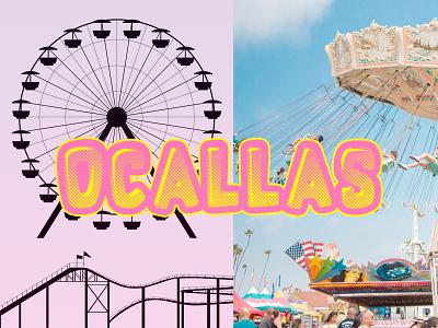 Design an Amusement Park Identity dribbbleweeklywarmup identity branding identity design identity typography art artwork graphic design design