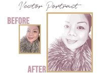 Vector Portrait | Before+ After