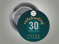 STEM Church | 30th Church Anniversary Button Pin