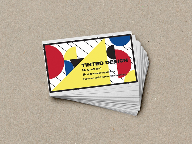 Bauhaus Style Business Cards By Iris Dribbble Dribbble