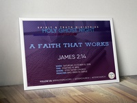 STEM Church | HGN : Holy Ghost Night Poster (A Faith That Works)