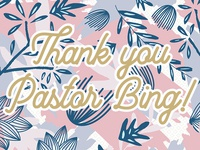 Pastor Appreciation Day | Thank you
