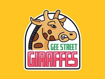Gee Street Giraffes sports mybuilder logo giraffe