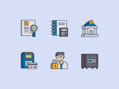 Finance Icons with 3D colored line style finance website finance logo finance app 3d icon vector illustration icon design icon
