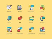 Customer Survey & Feedback Icon Set