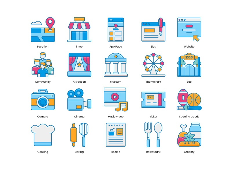 Instagram Highlight Icons by Steve Gerald for Krafted on